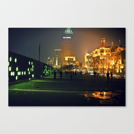 Shanghai by night Canvas Print