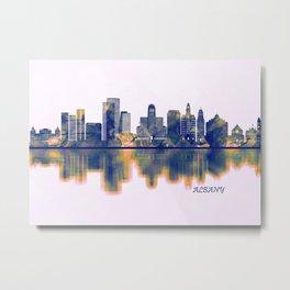 Albany Skyline Metal Print