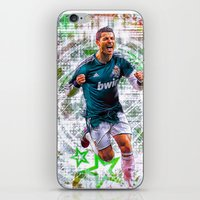 ronaldo iPhone & iPod Skins featuring VIVA RONALDO by Cr7izbest
