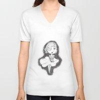 monroe V-neck T-shirts featuring Monroe by Danny Mar Mar