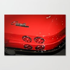 Red Corvette Sting Ray Car Canvas Print