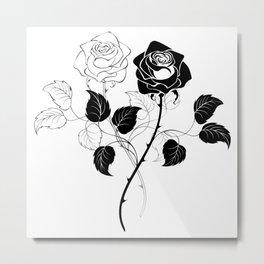 Two Roses Metal Print