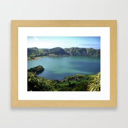 Sete Cidades Lagoon in S. Miguel, Azores Framed Art Print