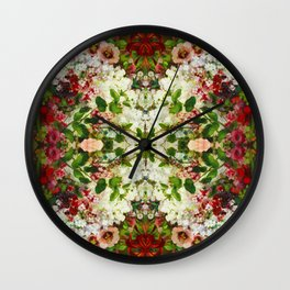 French Flowers Wall Clock