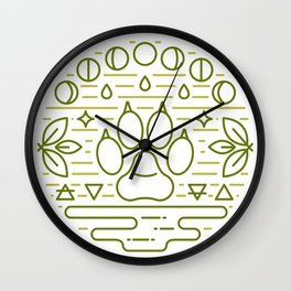 Druid Emblem Wall Clock