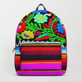 Serape and Flowers Backpack