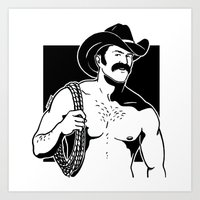 cowboy Art Prints featuring Cowboy by Fast Drip
