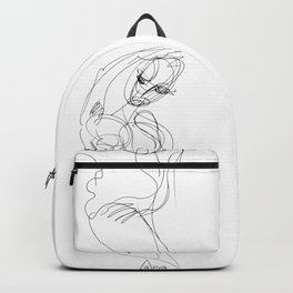 Pose of a woman - naive Backpack