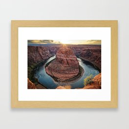 HORSESHOE BEND SUNSET ARIZONA LANDSCAPE PHOTOGRAPHY Framed Art Print