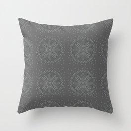 Leaf pattern design with background dark gray. Throw Pillow