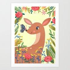 Tawny Fawn Art Print