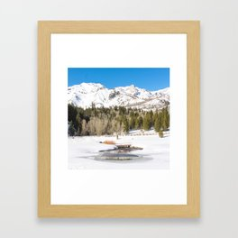 Adventure In The Snowy Mountains Framed Art Print