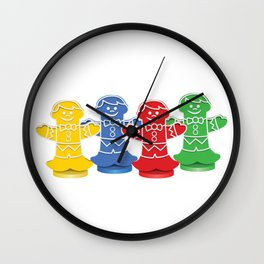Candy Board Game Figures Wall Clock