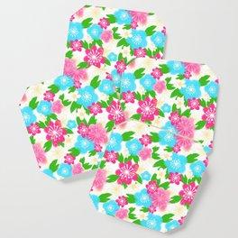 04 Pattern of Watercolor Flowers Coaster