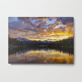 Mile High Sunset Metal Print