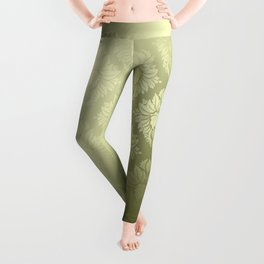 """Olive Damask Pattern"" Leggings"