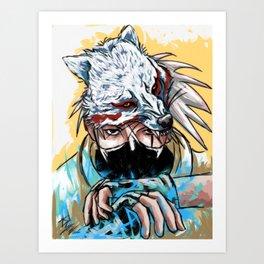 Abstract Kakashi Art Print