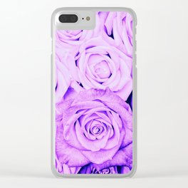Some people grumble- Floral Ultra Violet Rose Roses Flowers Clear iPhone Case