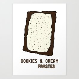 Cookies & Cream Frosted Popped Art Art Print
