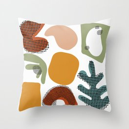 Playing Shapes Throw Pillow
