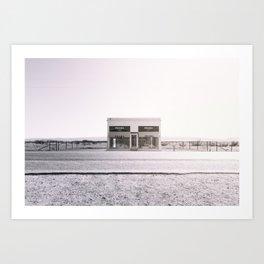 PradaMarfa - Black and White Version Art Print