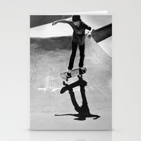 skateboard Stationery Cards featuring Skateboard by Chiarra Mandato