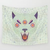 cosmic Wall Tapestries featuring Cosmic Cat by LordofMasks