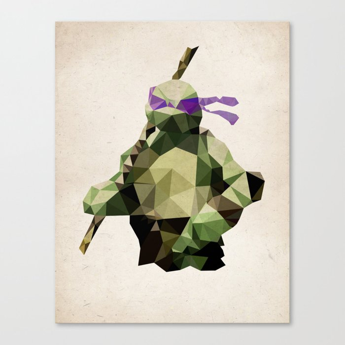 Polygon Heroes - Donatello Canvas Print