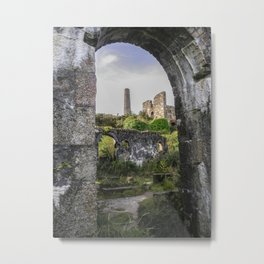 MINE RUINS AT WHEAL BASSET STAMPS CORNWALL Metal Print