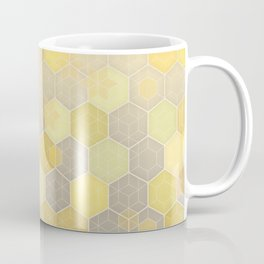 Lemon & Grey Honeycomb Coffee Mug