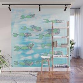 Mermaid migration Wall Mural