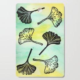 Ginkgo Biloba block print Cutting Board