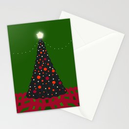 Christmas Tree with Glowing Star Stationery Cards