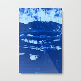 Shoreline:  minimal, abstract painting in blues by Alyssa Hamilton Art Metal Print