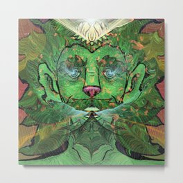 Green Man Give and Take Metal Print