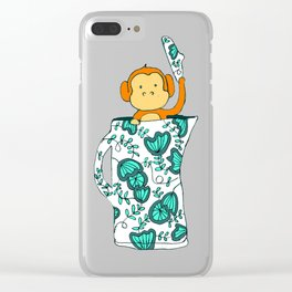 Dinnerware sets - Monkey in a jug Clear iPhone Case