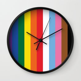 ALL THE COLORS OF LGBTQI+ QUEER COLOUR STORY UNITY Wall Clock