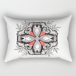 Mandala - Birds Rectangular Pillow
