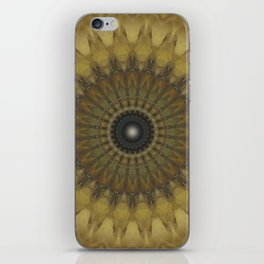 Mandala in golden tones iPhone Skin
