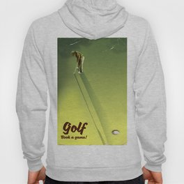 "Golf ""Book a game"" vintage Poster Hoody"