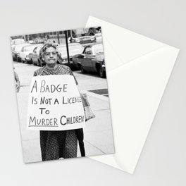 A Badge Is Not A License To Murder Children Stationery Cards