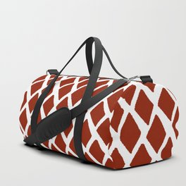 Rhombus Red And White Duffle Bag