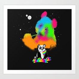 Technocolored Dreams Art Print
