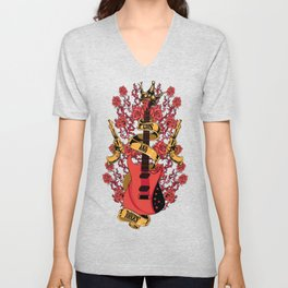 Guns and roses Unisex V-Neck