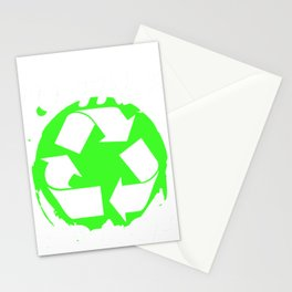 garbage man garbage collection garbage truck bin eco Stationery Cards