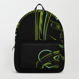 Green Grenade Gift Idea Design Motif Backpack