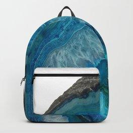 Blue agate, Marble, Faux Druse, Crystal, Quartz, Gem, Gemstone, Backpack