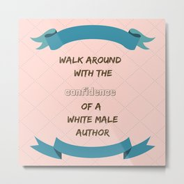 White male author Metal Print