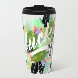 Fuck It Floral- Green Travel Mug