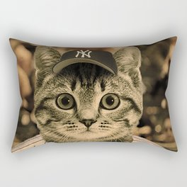 Baseball Cat Rectangular Pillow